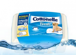 Free – Tub of Cottonelle Wipes
