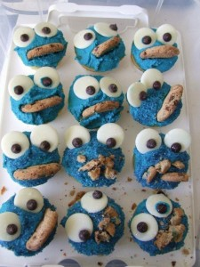 Fun Cookie Monster Cupcake Recipe