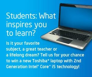 Intel Contest for Students. What Inspires You to Learn?