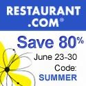 Hurry Restaurants.com 80% Off Code–Expires tomorrow!