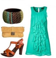 Turquoise-Dress-ensamble