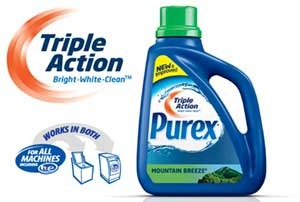 FREE Laundry Detergent Purex Triple Action!
