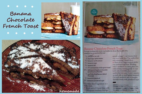 Banana Chocolate French Toast Cooking Light