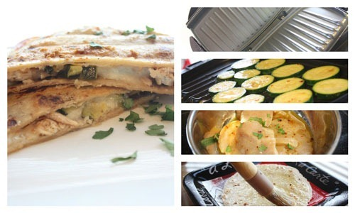 Grilled Lime Chicken Zucchini Quesadillas Recipe On George Foreman With Our Best Denver