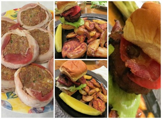 recipe bacon wrapped burgers