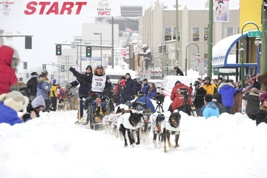 Start of the Iditarod Race