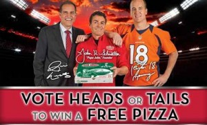 50/50 FREE PIZZA from Papa Johns