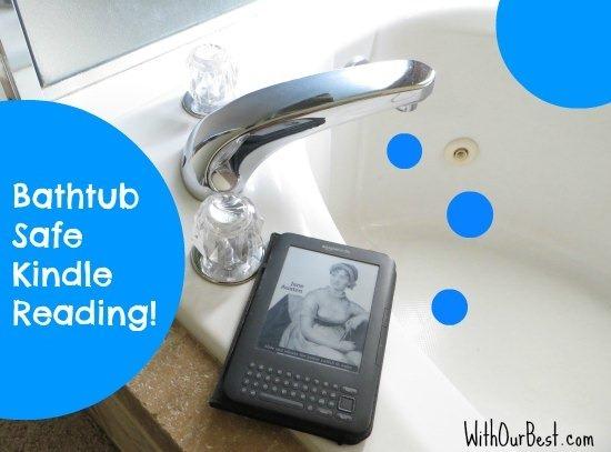 Bathtub waterproof kindle cover