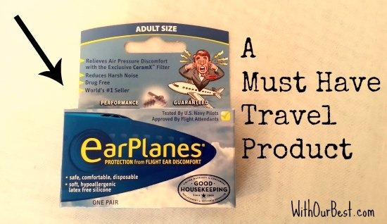 Earplanes recommended by flight attendant