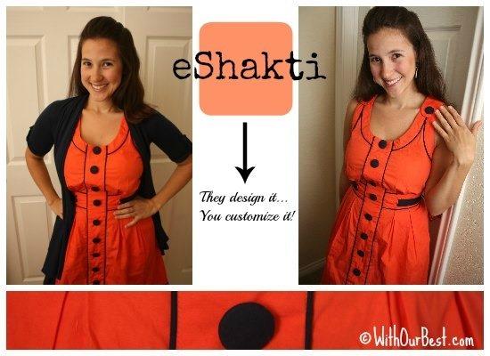 eshakti dress for summer orange