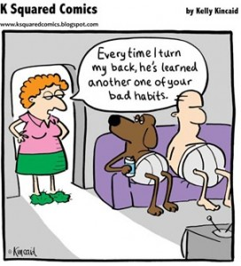 Dog Bad Habits #FridayFunny
