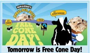 Free Ben & Jerry's Ice Cream Tomorrow!