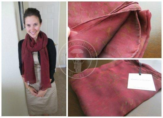 100 silk designer scarf