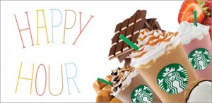 Starbucks Happy Hour: 50% Off Frappuccinos!