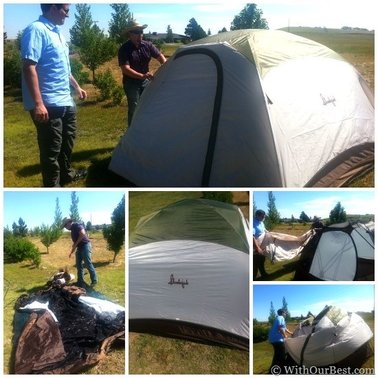slumberjack four person tent setup & Camping Gear: Slumberjack Trail Tent 4 Review - With Our Best ...