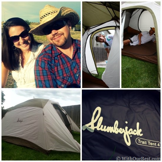 slumberjack trail tent blog review  sc 1 st  With Our Best - Denver Lifestyle Blog & Camping Gear: Slumberjack Trail Tent 4 Review - With Our Best ...