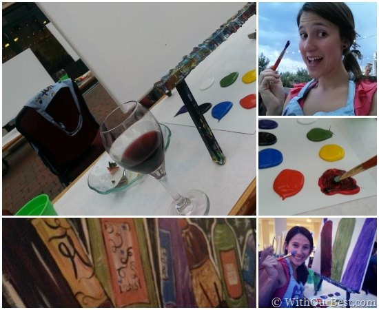 black box wines painting canvases in denver