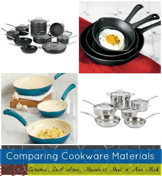 Comparision of cookware pans material