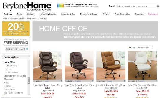 office chair guide. BrylaneHome Office Chairs Guide Chair E