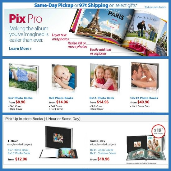 walmart hp photo books online