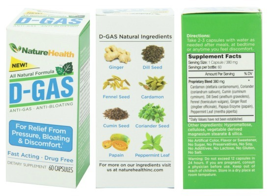 Natural Product to Relieve Gas and Bloating #DGASNature