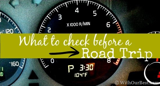 To Do: What to Check Before a Road Trip
