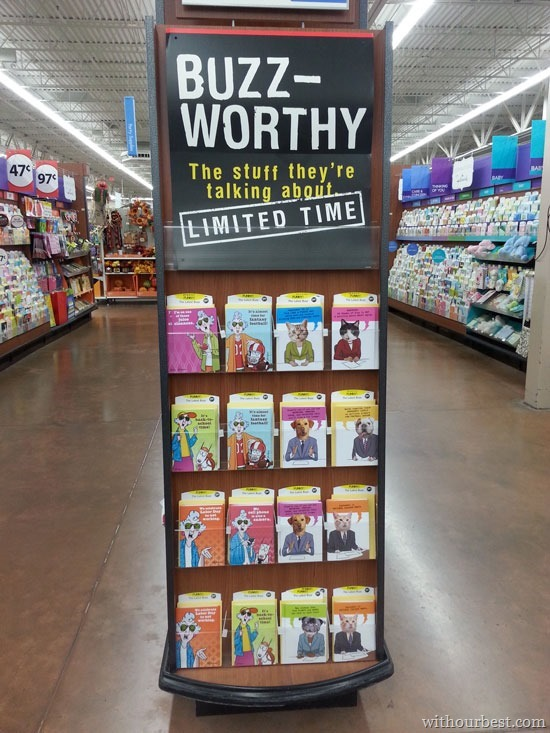 New witty and hilarious buzzworthy hallmark cards shop with our endcap walmart buzzworthy cbais m4hsunfo