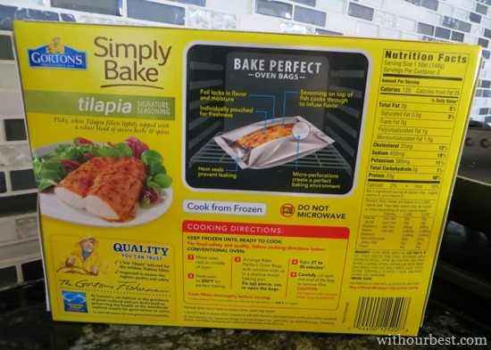 Simple Bake Tilapia Gorton S