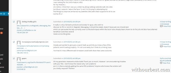 Spam Comments From my Blog