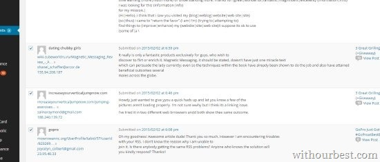 blog spam comments