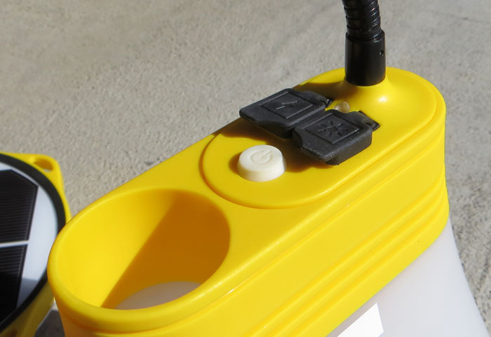 Sunbell Solar Lamp with Solar Phone Charger #EarthEasy