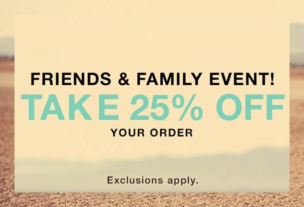 ShopBop Friend and Family Event–25% off on EVERYTHING!