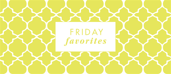 friday favorites yellow