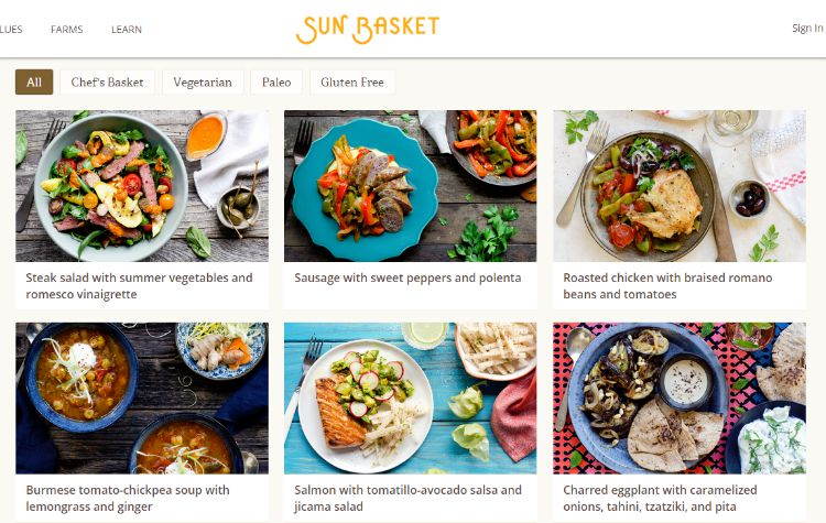 Weekly Meal Delivery How Does It Work Sunbasket With Our Best