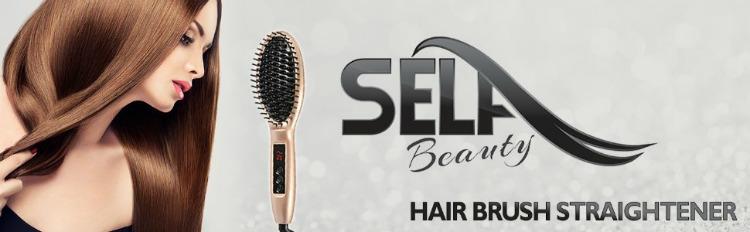 Hairbrush straigtener