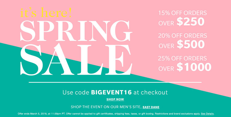 Don't Miss This Big Sale At ShopBop