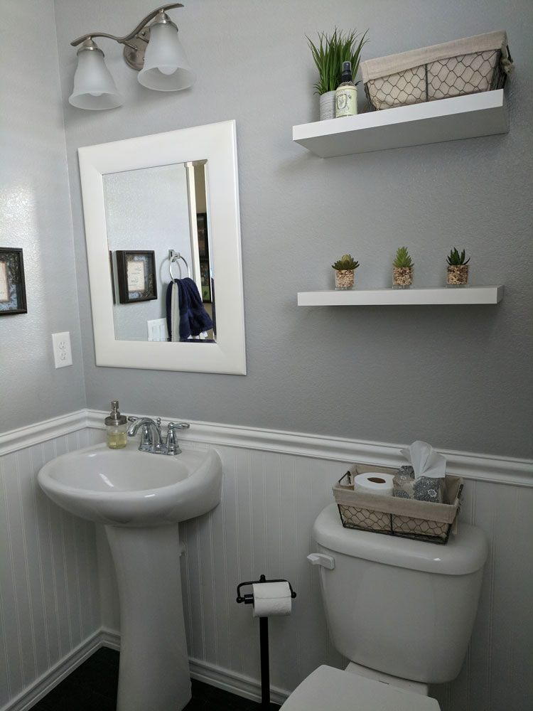 Basic Small Bathroom Remodel: Simple DIY Bathroom Remodel