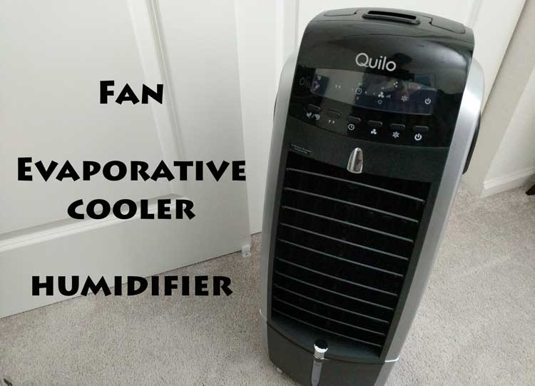 Quilo Fan with Evaporative Cooler and Humidifier
