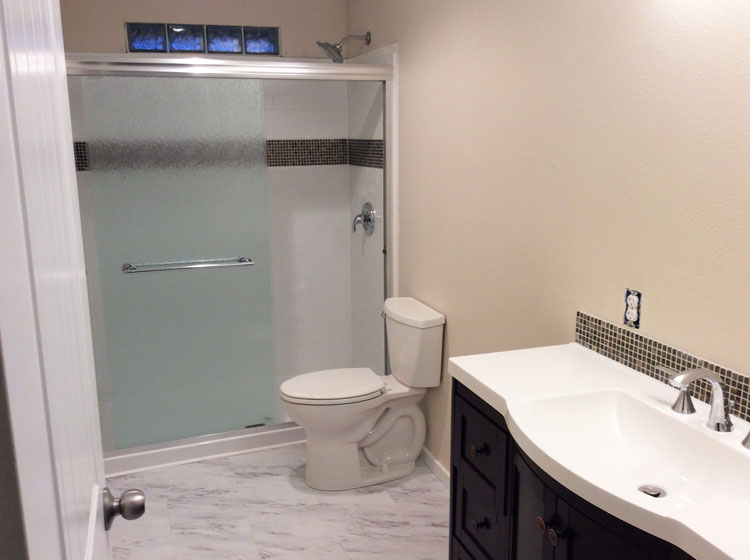 Bathroom Renovation: Delta UPstile Shower Install {My Dad\'s Point of ...