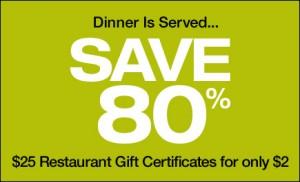 """""""Save 80% Restaurant.com"""""""