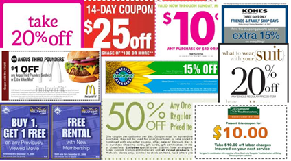 Coupon-collage