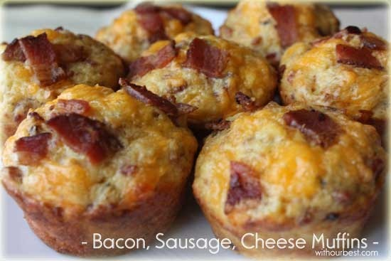 Bacon-Sausage-Cheese-Muffin