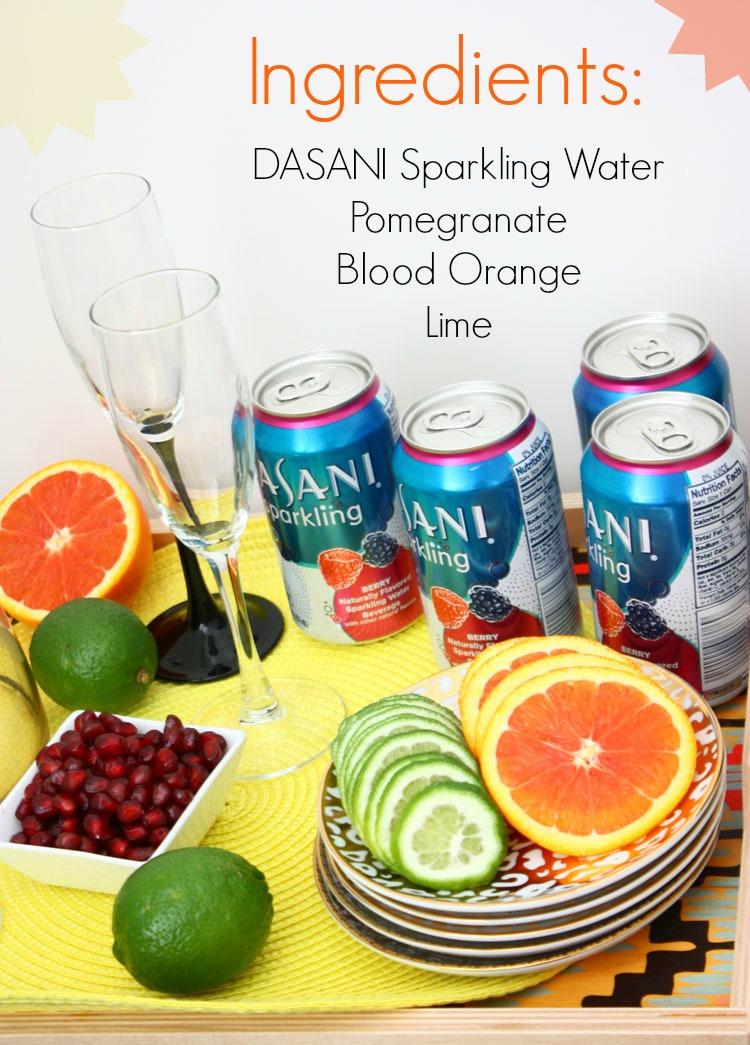 sparkling-water-mocktail ingredients