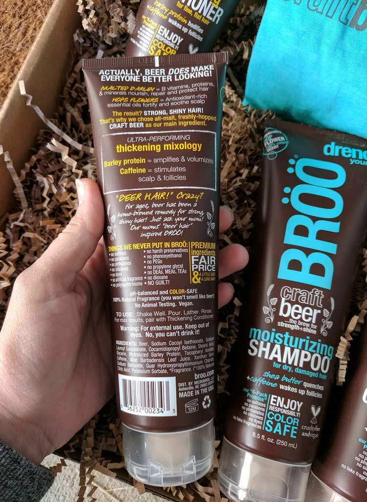 Beer Shampoo? Yes, it's Broo.