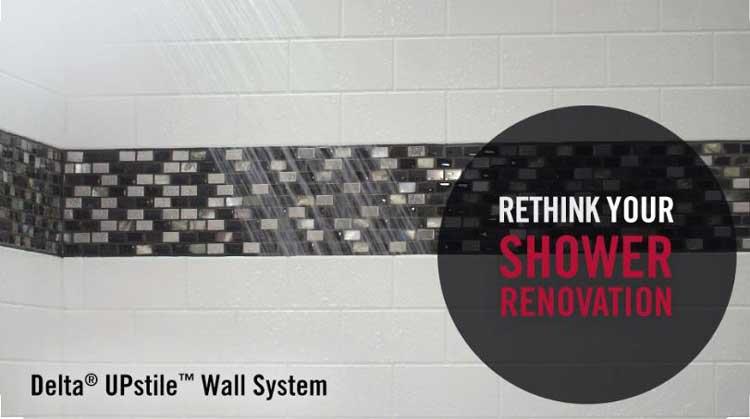Bathroom Renovation: Delta UPstile Shower Install {My Dad's